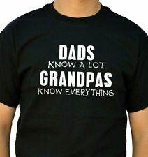 Grandpas Know Everything Men's T-Shirt cool tshirt designs funny tees dad gift