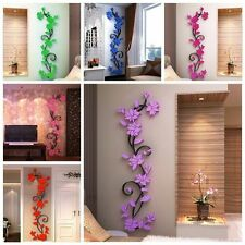 3D DIY Decal Removable Flowers Romantic Heart Wall Sticker Home Room Vinyl Decor