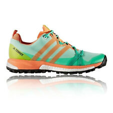 Adidas Terrex Agravic Womens Orange Green Cushioned Running Sport Shoes Trainers