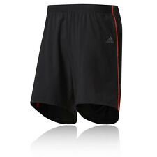 "Adidas Response 9"" Mens Black Climalite Running Work Out Shorts Bottoms"