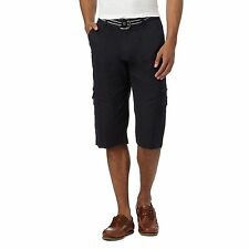 Maine New England Mens Big And Tall Navy Belted Cargo Shorts From Debenhams