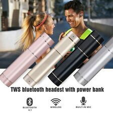 Mini TWS Twins Bluetooth Stereo Headset with Power Bank