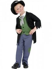 Boys Dodgy Victorian Poor Artful Dodger Fancy Dress Costume Kids Childs Outfit
