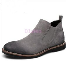 HOT Mens Womens Cowboy Vintage Suede Leather Chelsea Ankle Boots Chukka High Top
