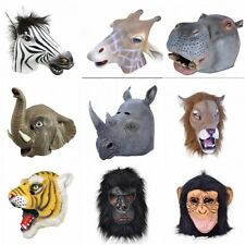 Animal Head Latex Mask Overhead Zoo Fancy Dress Costume Accessory