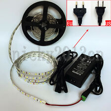 5M 2835 LED Flexible Strip Light 300LEDS Non Waterproof 12V 3A Power Supply