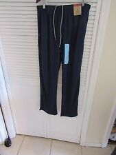 Reebok Mens Navy Blue Sweat Pants Breathable Mesh, Size L, Large,New, NWT