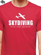 Skydiving Mind Over Splatter T-Shirt cool tshirt designs funny tees