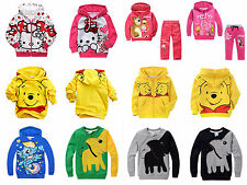 Baby Boys Girls Kids Winniebear Pony Tops Shirt Hoodies Sweatshirt 3-8