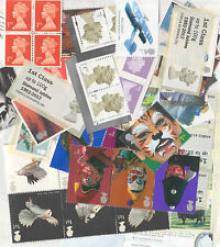 GB Unmounted Mint 75 x 1st class stamps for post, full gum/self adh. Face £48.