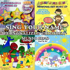 Children's Personalized SING YOUR NAME Music CD - Barney, Care Bears, Spider Man