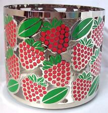 Bath & Body Works 14.5 oz 3-wick Large Metal Candle Holder  Lots of Strawberries