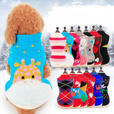 Cute Wool Sweater Baby Dog Clothing Vest Pet Puppy Cat Warm Clothes
