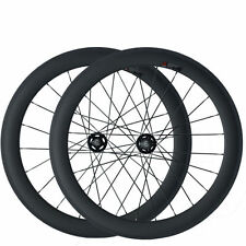 60mm Clincher 3K Carbon Wheels Road Bicycle Road Wheel Track Fixed Gear Wheelset