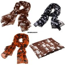 New Fashion Casual Animal Print Scarf Large Long Shawl Scarves VGY01