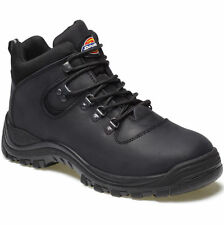 MENS DICKIES FURY BLACK LACE UP SAFETY WORK BOOTS WITH STEEL TOE CAP FA23380A