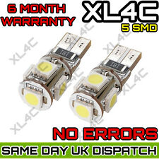 Side Light Bulbs T10 Xenon White Car Bulbs Canbus ERROR FREE LED 5 SMD W5W 501