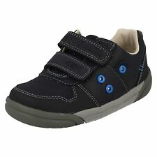 BOYS CLARKS RIPTAPE LEATHER FLASHING LIGHT UP TRAINERS CASUAL SHOES LILFOLKPOP