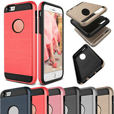 Luxury Hybrid TPU Shockproof Brushed Slim Case Cover for iPhone 4 5 6 S SE Plus