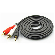 20m 66FT 3.5mm Plated Male Mini Plug To 2 RCA Stereo Phono Audio Speaker Cable