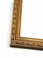 Gold Solid Wood Ornate Picture Photo Frame, Ready to hang on your wall decor