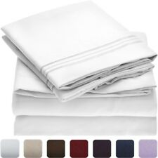 NEW Mellanni 1800 Luxury Flat Sheet - TWIN XL - 1800 Brushed Microfiber