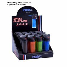 CHEAPEST NEW Heavy Duty Clear Colored Blue Flame Jet Lighter Gas Refilable