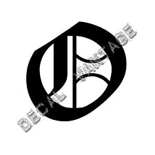 Old English O Letter Initial Vinyl Sticker Decal Font Diploma Choose Size &Color