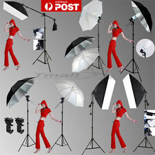 NEW-Photography Softbox Umbrella Continuous Lighting Soft Box Boom Arm Stand Kit
