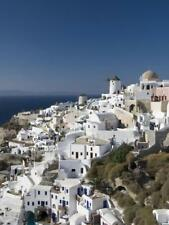 Oia, Santorini, Cyclades, Greek Islands, Greece, Europe Stretched Canvas Print