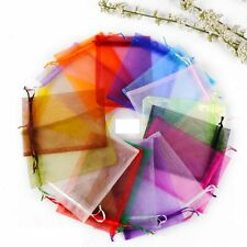 6 Colours Wedding Favour Premium Organza Gift Bags Jewellery Pouches 7x9cm