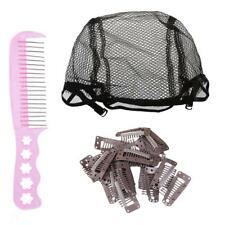 Invisible Stretch Breathable Wigs Cap Styling Comb Wig Teeth Snap Clips Set