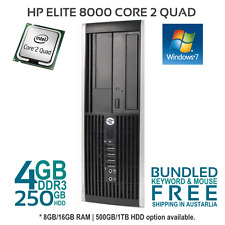 HP Compaq 8000 Elite Intel Core 2 Quad 2.66Ghz Desktop 4Gb Ram 250Gb HDD Win 7