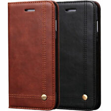 Luxury Magnetic Leather Wallet Flip Case For iPhone 6S 7 Plus& Samsung 7 8 Plus