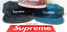 Supreme Courdoroy Camp Cap adult size strapback black, blue