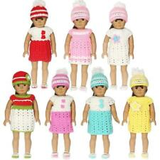 Hand Knitted Dress Outfit Set Winter Wear Fit 18'' American Journey Girl Dolls