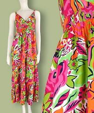 Ladies monsoon Strappy maxi Summer Dress Hot Pink Floral Sizes 8 10  rrp£55 New