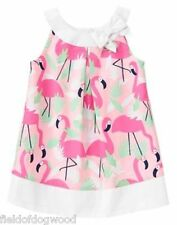 NWT Gymboree FRUIT PUNCH Flamingo ALL over Dress 5T Toddler girls