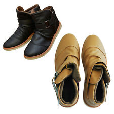 Mens Winter Warm Casual Leather High Top Loafers Shoes Ankle Boots Sneakers E2X9