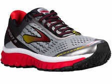 NEW MENS BROOKS GHOST 9 RUNNING SHOES TRAINERS ALLOY / HIGH RISK RED / BLACK