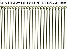 50 x HEAVY DUTY 9 TENT PEGS - 23CM x 4.5MM + Camping Tent Mallet + PEG EXTRACTOR
