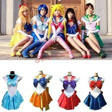 HOTTER~Anime Sailor Moon Cosplay Costume Uniform Fancy Party Dress + Gloves