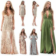 Premium Silver Long Sleeve Sequin Prom Ball Gown Evening Full Length Maxi Dress