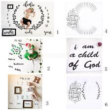 Cute Newborn Baby Letter Milestone Blankets Photography Photo Props Shoots