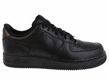 NEW MENS NIKE AIR FORCE 1 LOW BASKETBALL SHOES TRAINERS BLACK / BLACK
