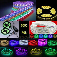 Waterproof 300 LED 5-10M RGB 5050 SMD Light Strip Flexible + IR Remote 12V power