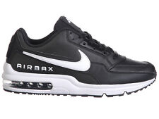 NEW MENS NIKE AIR MAX LTD TRAINERS CASUAL SHOES BLACK / WHITE