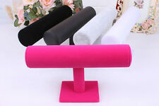 Velvet T-Bar Jewelry Rack Bracelet Necklace Stand Organizer Holder Display Gifts