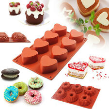 Silicone Cake Baking Mold Soap Cookie Candy Muffin Chocolate Cupcake Mould Pan