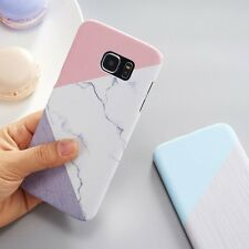 Granite Marble Contrast Color PC Hard Phone Cover Case for Samsung S8 S8 Plus